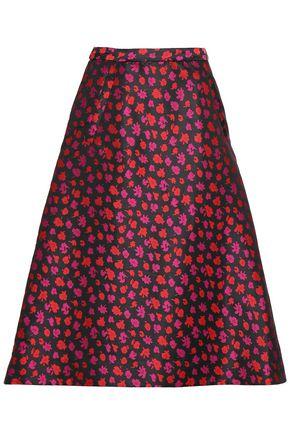 BAUM UND PFERDGARTEN Flared floral-jacquard skirt