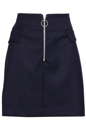 BAUM UND PFERDGARTEN Zip-detailed twill mini skirt