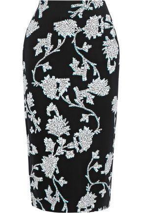DIANE VON FURSTENBERG Kara floral-print stretch-jersey pencil skirt