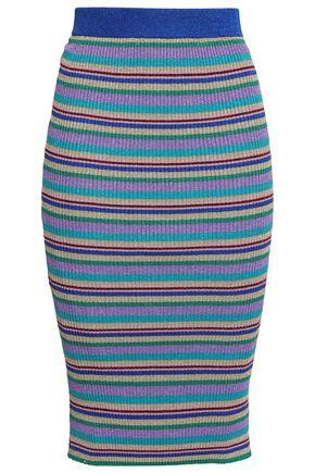 BAUM UND PFERDGARTEN Metallic ribbed-knit pencil skirt