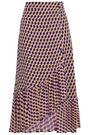 BAUM UND PFERDGARTEN Ruffled printed crepe midi skirt