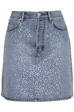 ACNE STUDIOS Sequined denim mini skirt