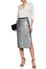 BURBERRY Sequined woven midi skirt