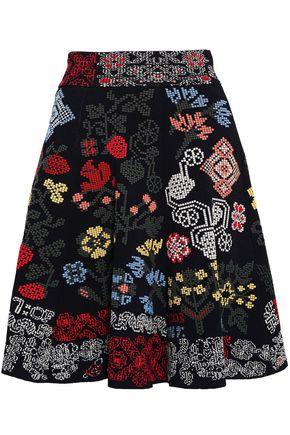 ALEXANDER MCQUEEN Silk-blend jacquard mini skirt