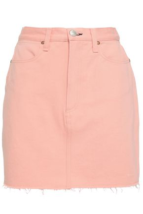 RAG & BONE Two-tone denim mini skirt
