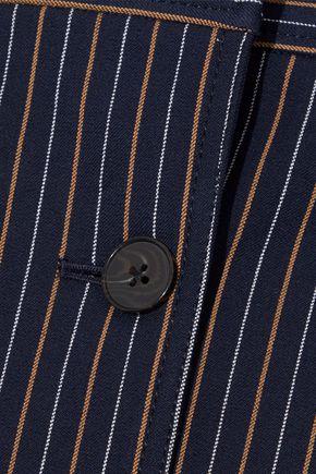 DEREK LAM 10 CROSBY Pinstriped cotton-blend twill mini skirt