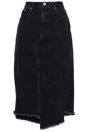 RAG & BONE Sukato frayed denim skirts
