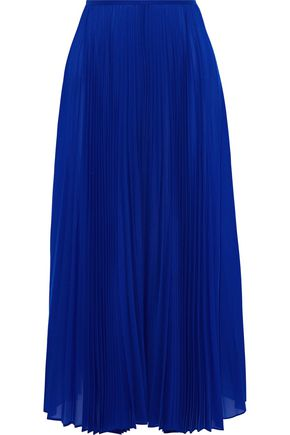 JOSEPH Abbot pleated crepe de chine midi skirt