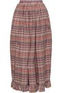 ISA ARFEN Checked cotton midi skirt