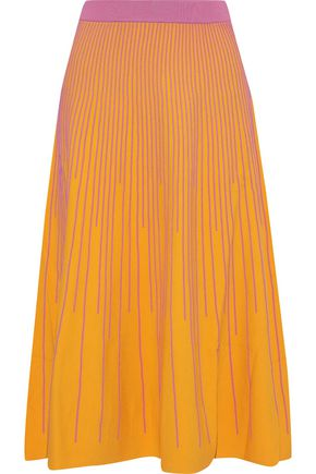 DEREK LAM 10 CROSBY Ribbed-knit midi skirt