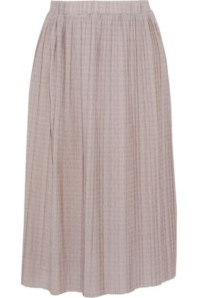 W118 by WALTER BAKER Britta pleated metallic knitted skirt