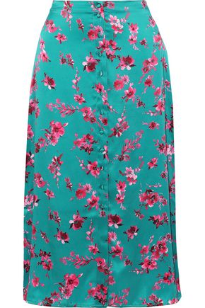 CAMI NYC Annabelle floral-print silk-charmeuse midi skirt