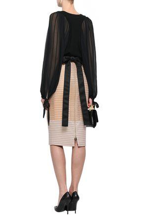 AMANDA WAKELEY Metallic jacquard skirt