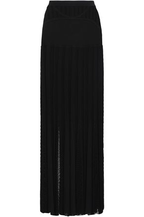 ROBERTO CAVALLI Paneled knitted maxi skirt