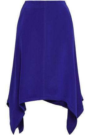 ROBERTO CAVALLI Asymmetric silk crepe de chine skirt