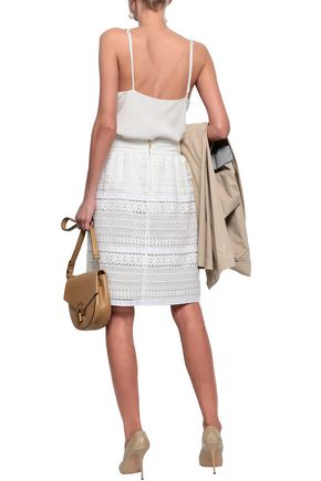 BURBERRY Guipure lace skirt