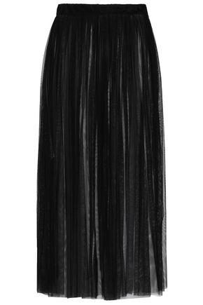 NINETY PERCENT Pleated tulle midi skirt