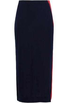 NINETY PERCENT ストライプ ストレッチジャージー ミディスカート
