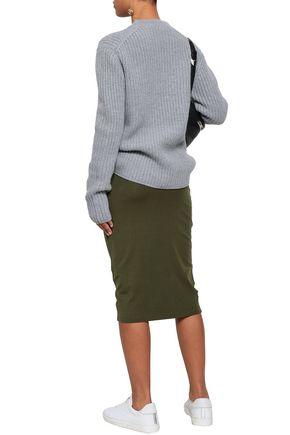 NINETY PERCENT Stretch-jersey midi skirt
