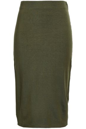NINETY PERCENT Stretch-jersey midi skirt