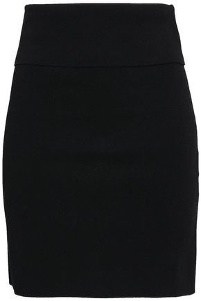 NINETY PERCENT Stretch-ponte mini skirt