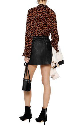 FRAME Leather mini skirt