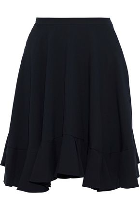 CHLOÉ Ruffle-trimmed crepe mini skirt