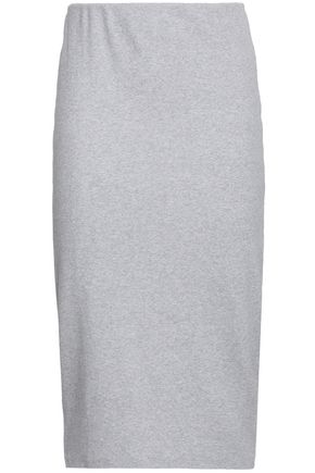 NINETY PERCENT Ribbed cotton-blend jersey midi skirt