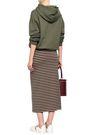NINETY PERCENT Striped stretch-jersey midi skirt