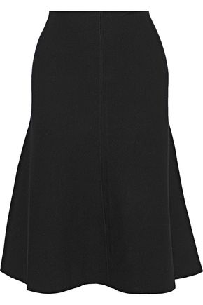 MILLY Flared knitted skirt