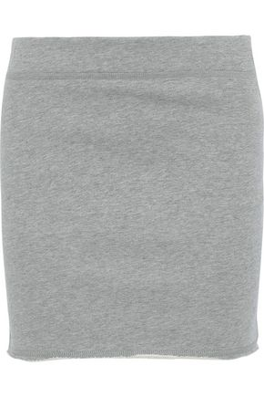 RAG & BONE Marlie mélange French cotton-terry mini skirt