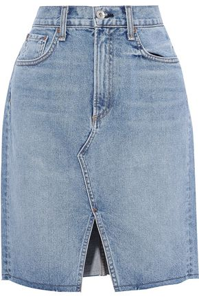 RAG & BONE Suji faded denim mini skirt