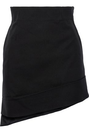 HELMUT LANG Asymmetric canvas mini skirt