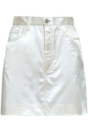 MARC JACOBS Appliquéd cotton-blend satin mini skirt