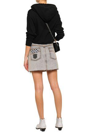 MARC JACOBS Appliquéd denim mini skirt