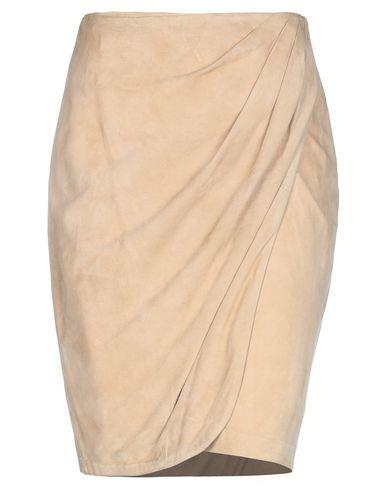 Фото - Юбку до колена от RALPH LAUREN BLACK LABEL бежевого цвета