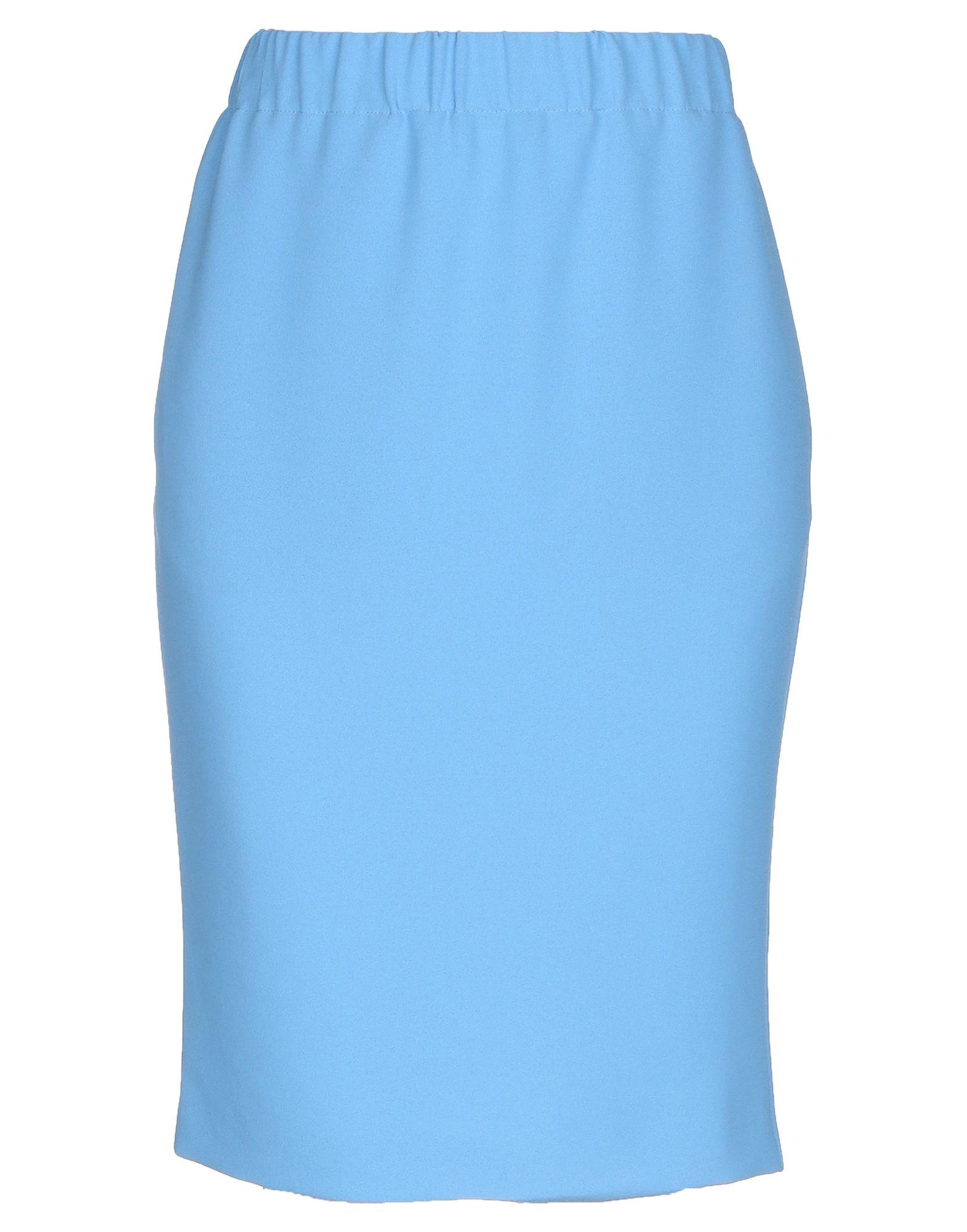 BLUE LES COPAINS Юбка до колена peacock blue юбка до колена