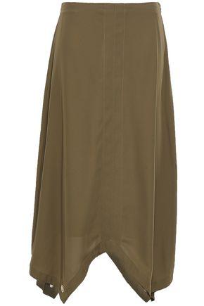 DKNY Asymmetric habotai midi skirt