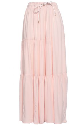 DKNY Gathered twill maxi skirt