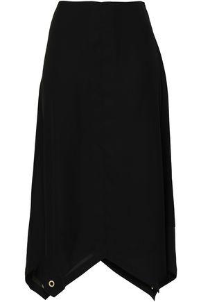 DKNY アシンメトリー 羽二重 ミディスカート