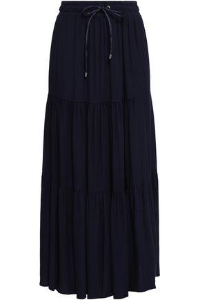 DKNY Gathered twill maxi skirt