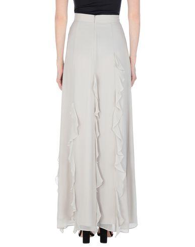 Фото 2 - Длинная юбка светло-серого цвета