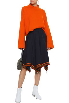 J.W.ANDERSON Grosgrain-trimmed embellished cotton-twill skirt