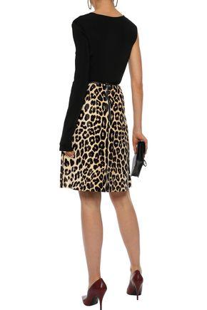 BOTTEGA VENETA Embellished leopard-print calf hair skirt