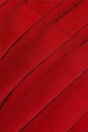 BOTTEGA VENETA Pleated layered tulle and satin skirt