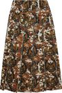 BOTTEGA VENETA Eyelet-embellished pleated printed scuba skirt