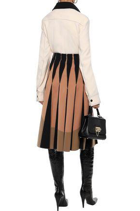 BOTTEGA VENETA Pleated satin-twill skirt