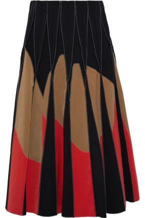 BOTTEGA VENETA Pleated satin-twill skirt