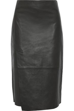 VINCE. Leather skirt