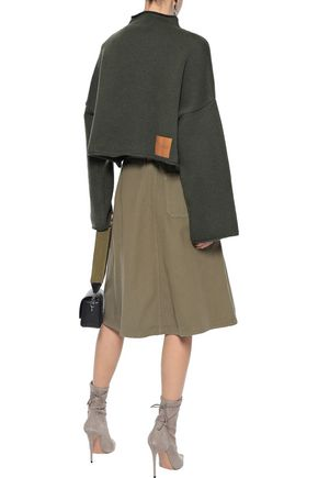J.W.ANDERSON Layered belted cotton-canvas skirt